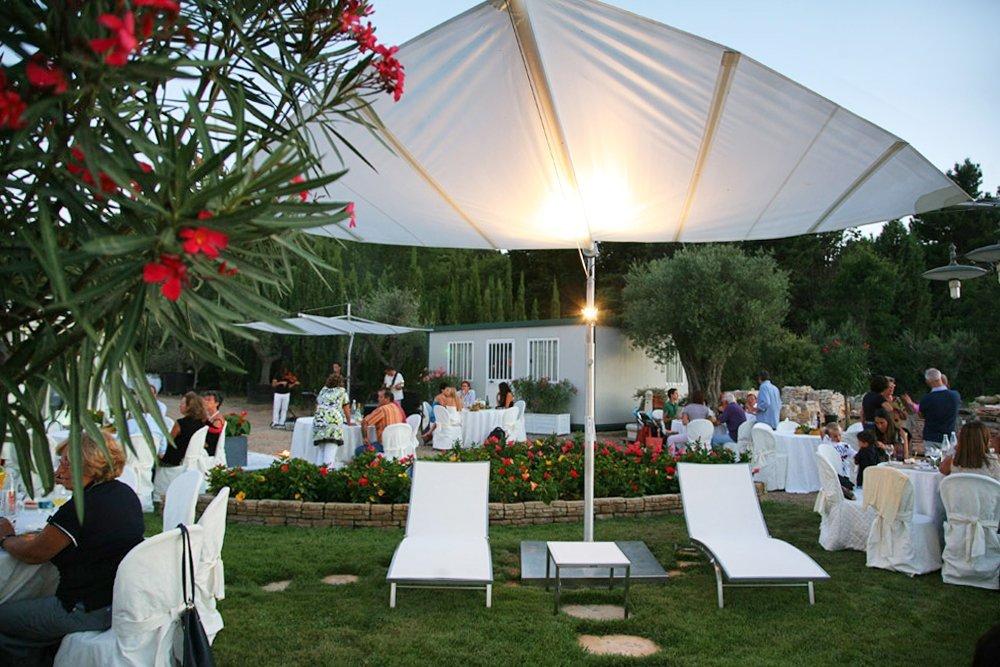 tenda parasole per un matrimonio