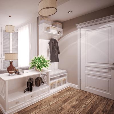 A beautiful hardwood floor in a modern home