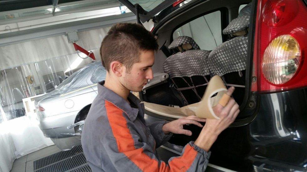 preparazione verniciatura auto