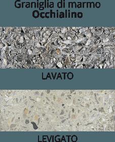 graniglia di marmo Occhialino - lavato o levigato