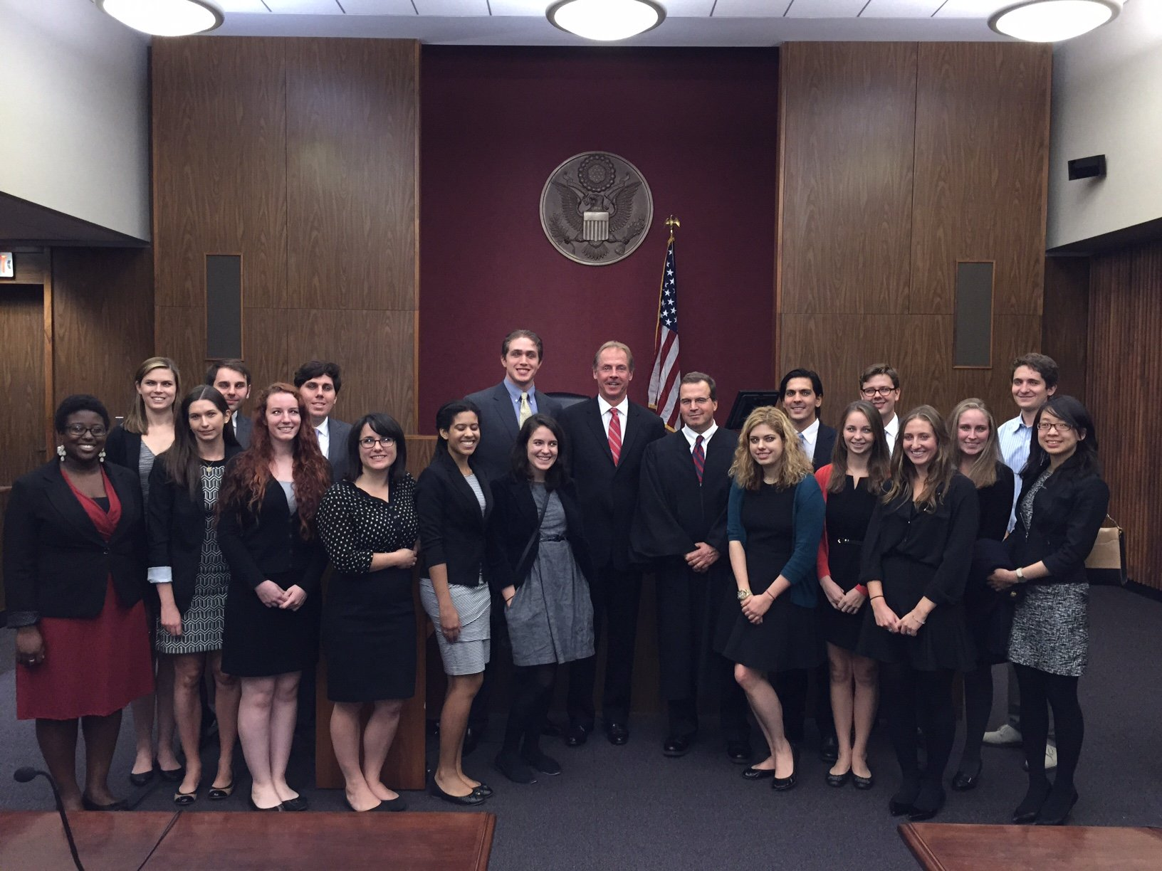 Temple Law Students Visit Courtroom of Federal Judge Felipe Restrepo