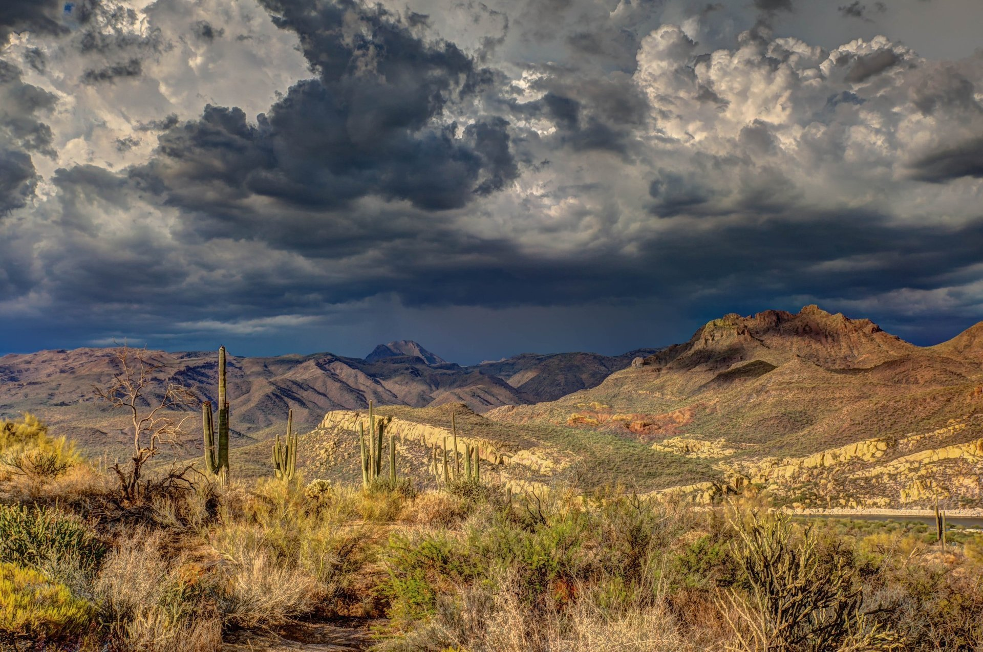 Storm clouds over the high desert