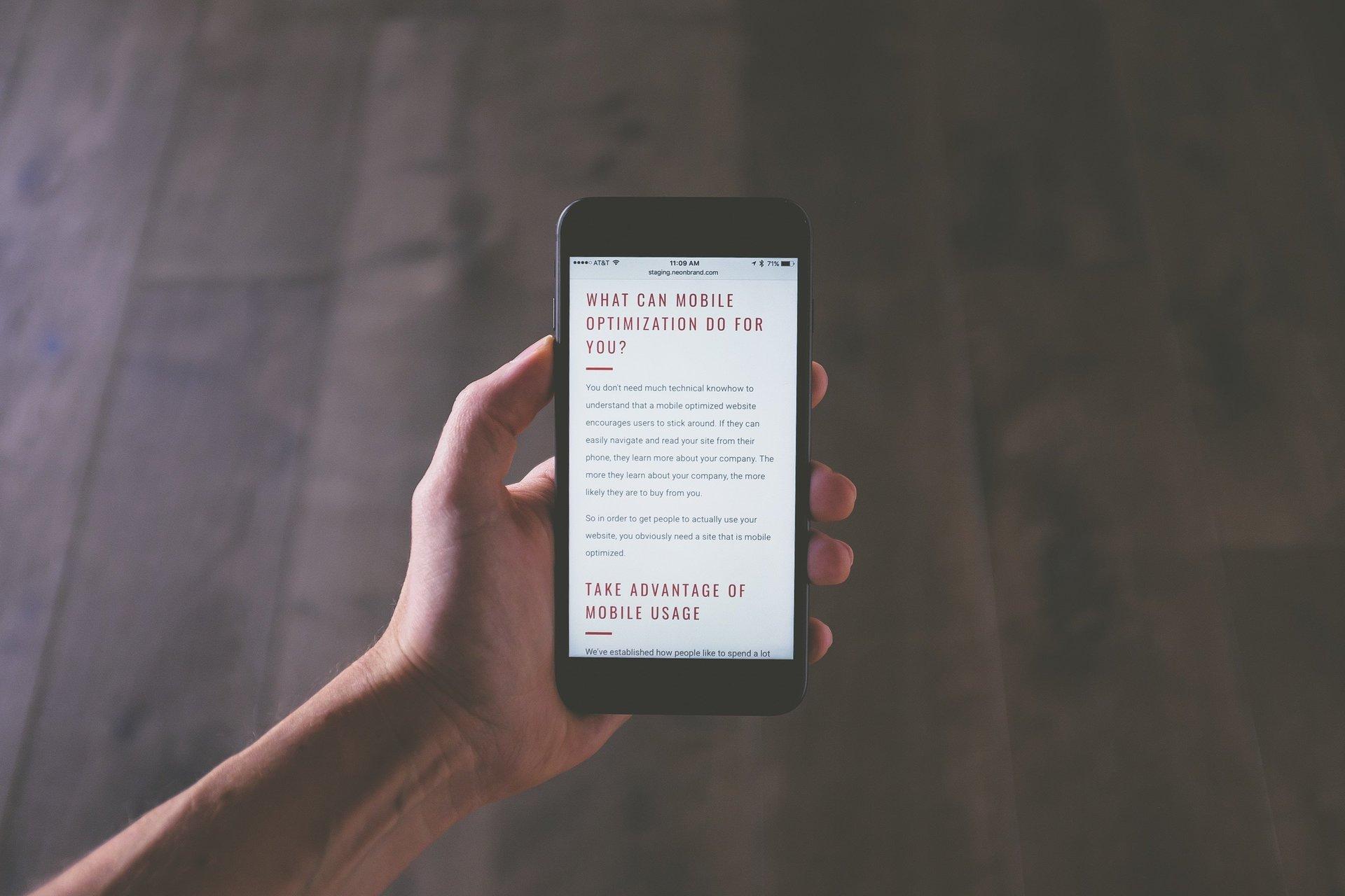 mobile website design porter texas and houston