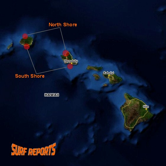 Click on Red for Surf Reports