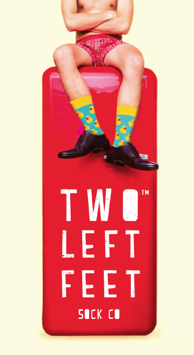 DM Merchandising Two Left Feet Sock Co. Available at Terry Moore & Associates