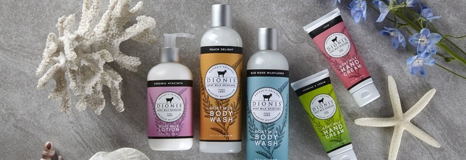 Dionis Goat Milk Soap, Hand Cream, Lotion & Lip Balm