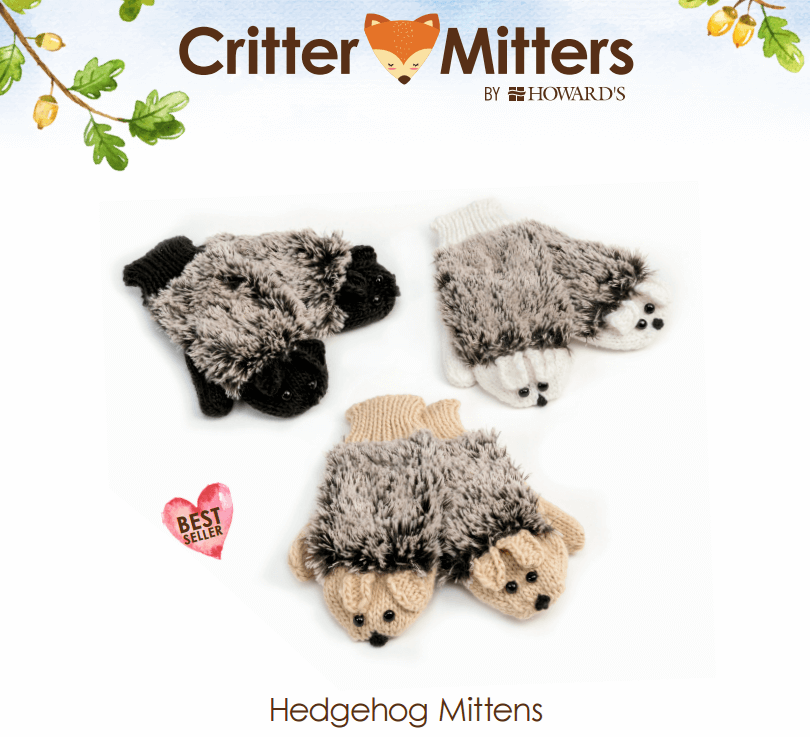 Howard's Hedgehog Critter Mitters