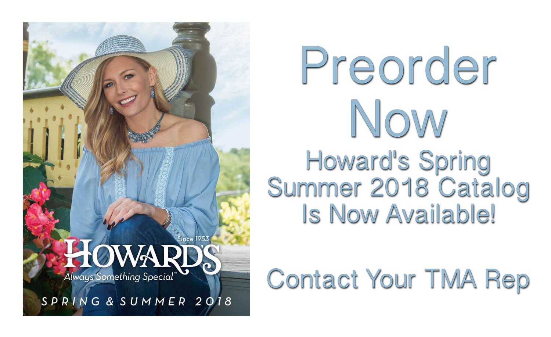 Howard's 2018 Spring Summer Catalog