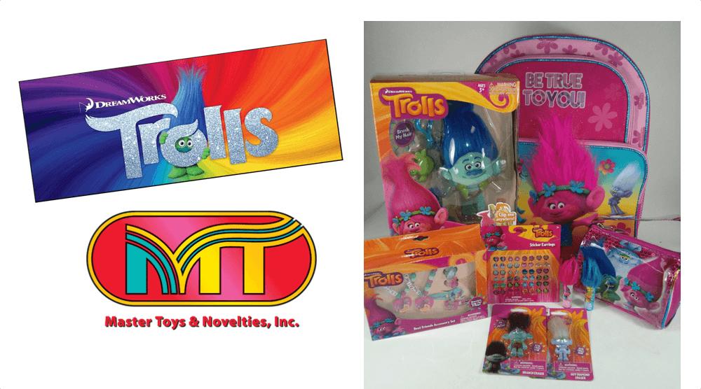 Trolls - Dreamworks Toys Available Via Master Toys