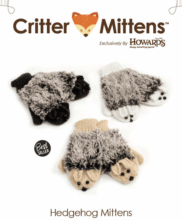 Howard's Critter Mittens Available From Terry Moore & Associates